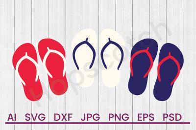 USA Flip Flops- SVG File, DXF File