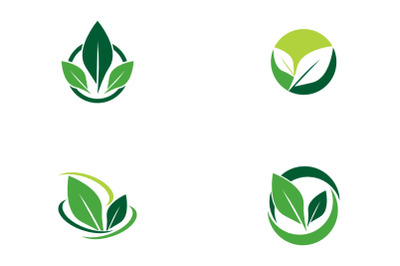 tree leaf logo template