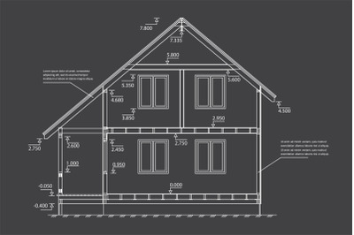 Big house plan or scheme
