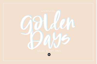 Golden Days Brush Script .OTF Font