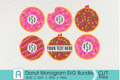 Donut Monogram Svg, Donut Svg, Donut Clip Art