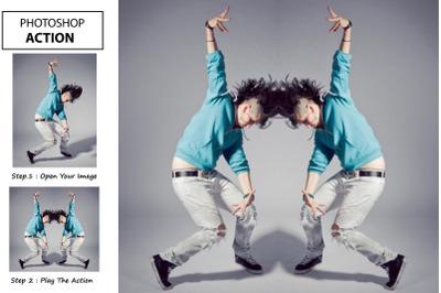 Mirror Effect - Photoshop Action