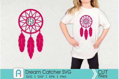 Dream Catcher Monogram Svg, Dream Catcher Svg, Dream Catcher