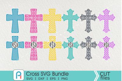 Cross Monogram Svg, Cross Svg, Cross Clip Art
