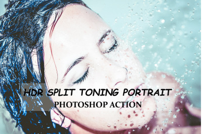 HDR Split Toning Portrait - Photoshop Action