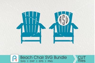 Beach Chair Monogram Svg, Beach Chair Svg, Beach Clip Art