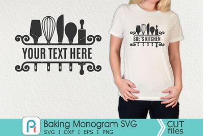 Baking Monogram Svg, Baking Svg, Baking Clip Art
