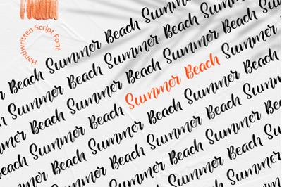 Summer Beach Handwritting Font