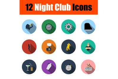 Night Club Icon Set