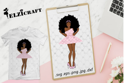 Afro Woman Barbie SVG Cut File