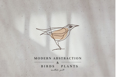 Modern Abstraction Birds & Plants