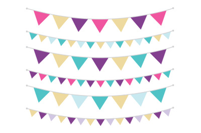 Purple Gold and Teal Triangle Banners