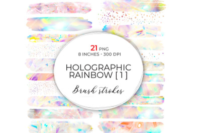 Large Holographic Brush Strokes 1