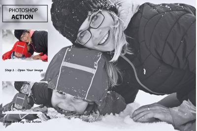 Hdr Black & White - Photoshop Action