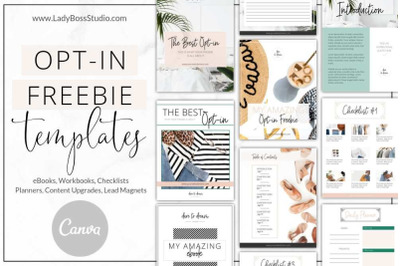 Canva Fresh Opt-in Freebie Templates