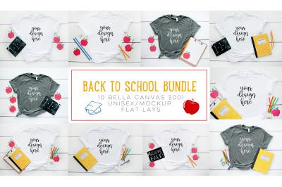 Back To School Bella Canvas Mock Up/Flat Lay BUNDLE-10 images