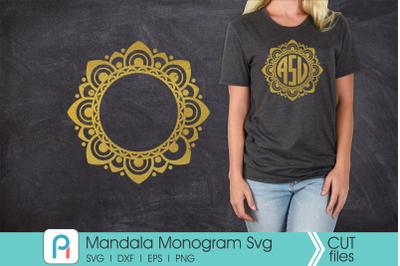 Mandala Svg, Mandala Monogram Svg, Mandala Frame Svg