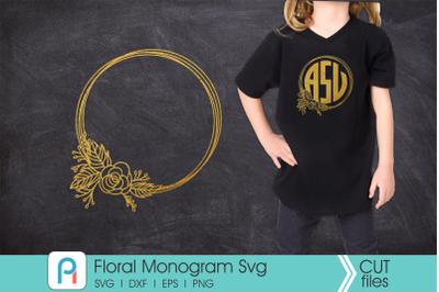 Flower Monogram Svg, Flower Svg, Flower Clip Art, Floral Svg