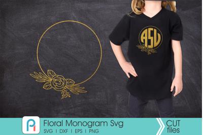 Floral Svg, Flower Svg, Flower Monogram Svg, Flower Vector