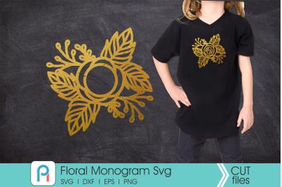 Floral Monogram Svg, Flower Monogram Svg, Flower Svg, Flower