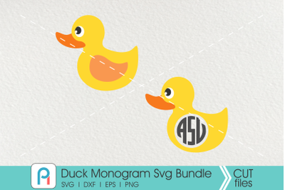 Duck Svg, Duck Monogram Svg, Rubber Duck Svg, Duck Vector