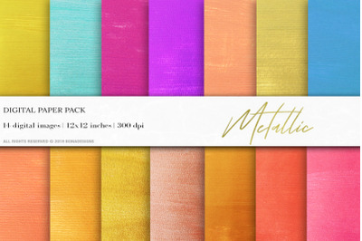 Metallic Backgrounds, Gold Digital Papers