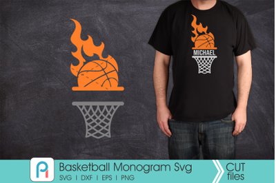 Basketball Monogram Svg, Basketball Clip Art, Basketball Svg