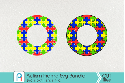 Autism Frame Svg, Autism Monogram Frame Svg, Autism Monogram