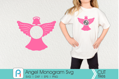 Angel Monogram Svg, Angel Svg, Heaven Svg, Angel Clip art