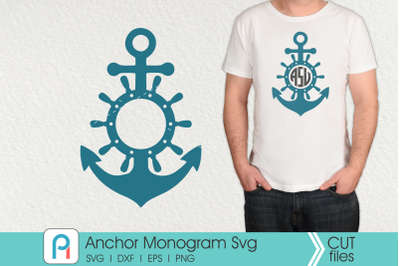 Anchor Monogram Svg, Anchor Svg, Anchor Clip Art, Anchor Dxf
