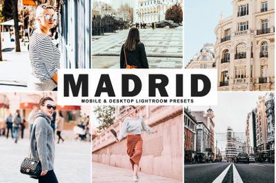 Madrid Mobile & Desktop Lightroom Presets