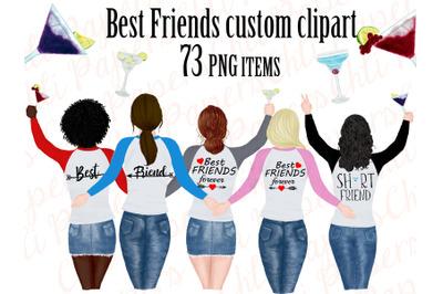 Best friend clipart,Portret creator,Bachelorette party girls