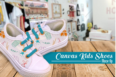Canvas Kids Shoes Mock-Up