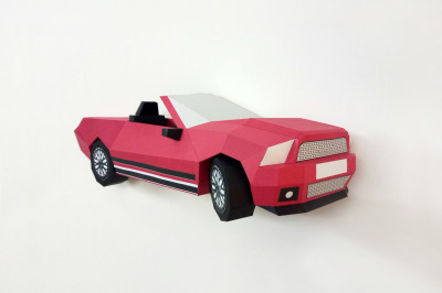 DIY Wall mount Car - 3d papercraft