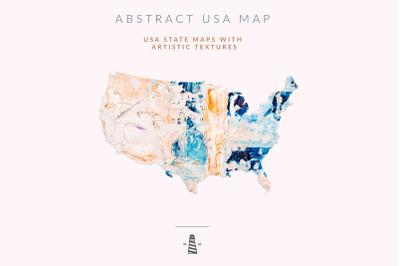 USA State Maps, 50 States Shapes