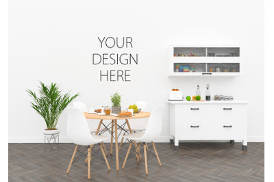 Kitchen interior mockup - artwork background