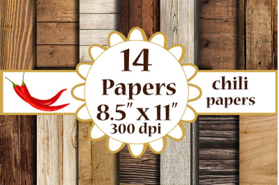 Wood Digital Paper, Wood paper, A4 papers 8.5x11 papers