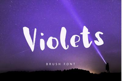 Violets, brush font