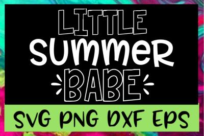 Little Summer Babe SVG PNG DXF & EPS Design Files