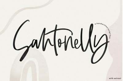 Santonelly - Handwritten Script Font with Extras!