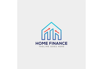 finance statistic home logo vector