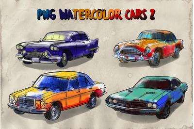 PNG watercolor cars 2