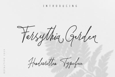 Forsythia Garden |Signature Typeface