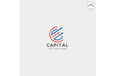 charts finance logo template vector