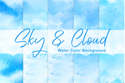 Sky and Cloud water color background