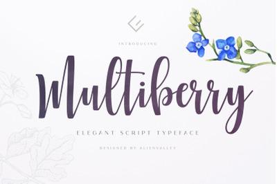 Multiberry - Script Font