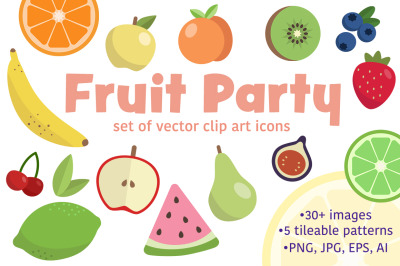 Fruit Party Icons