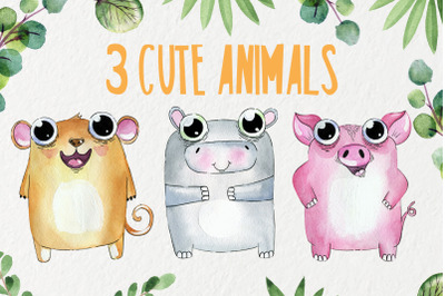 3 Cute animals