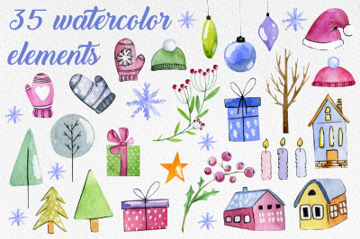 Cute winter elements