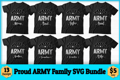 Proud Army Family Svg Design Bundle